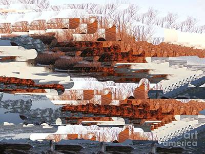 Digital Art - A Snowy Fortress by Nancy Kane Chapman
