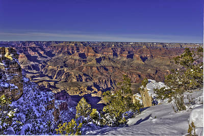 Photograph - A Snowy Grand Canyon by Harry B Brown