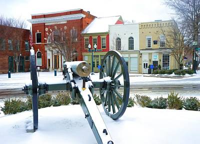 Historic Franklin Tennessee Photograph - A Snowy March Day by Debbie Smartt