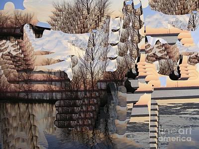 Digital Art - A Snowy Morning by Nancy Kane Chapman