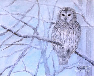 Painting - A Barred Owl by Wonju Hulse