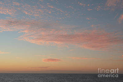 Background Photograph - Soft Cloud Background With A Pastel Colored Cloudscape by Dani Prints and Images