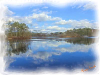 Digital Art - A Soft Scenic View Of A Small Eastern Connecticut Lake by Rusty R Smith