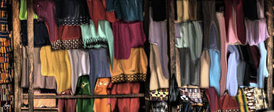 Photograph - A Soft Wall Of Shirts by Wayne King