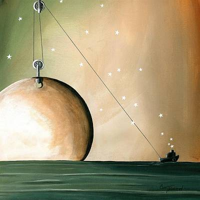 Pulley Painting - A Solar System by Cindy Thornton