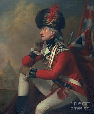 Military Uniform Painting - A Soldier Called Major John Andre by English School