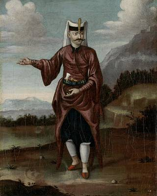 Hell Painting - A Soldier Of The Janissaries by Jean Baptiste Vanmour