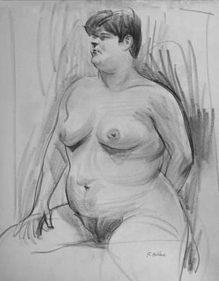 Drawing - A Solid Figure by Robert Holden