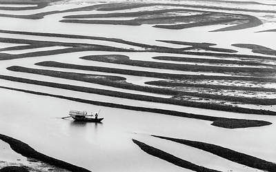 Photograph - A Solitary Boatman. by Usha Peddamatham