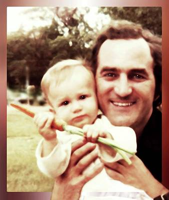 Photograph - A Son, A Father And A Juicy Carrot by Hartmut Jager
