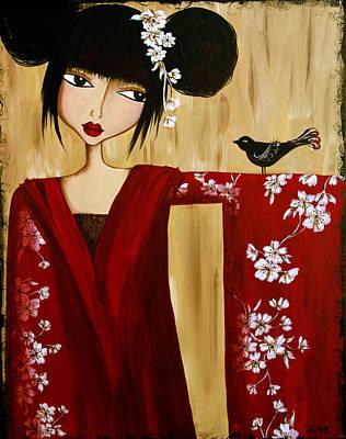 A Song For Suki Art Print by Debbie Horton