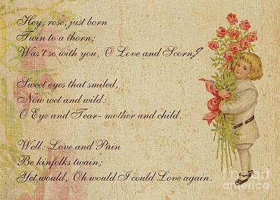 Digital Art - A Song Of Love By Sidney Lanier by Olga Hamilton