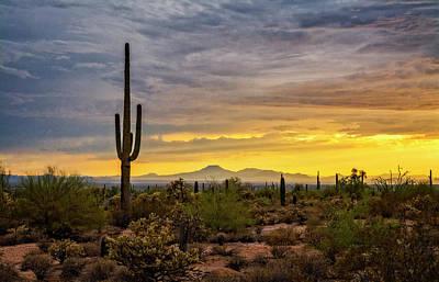 Photograph - A Sonoran Summer Sunset  by Saija Lehtonen