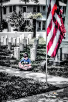 Photograph - A Son's Sadness by Joedes Photography