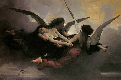 Angel Painting - A Soul Brought To Heaven by Adolphe William Bouguereau