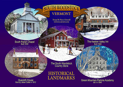 A South Woodstock Winter Print by Nancy Griswold
