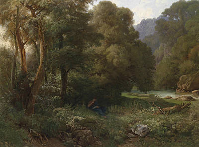 Painting - A Southern Mountainous Landscape by Heinrich Dreber