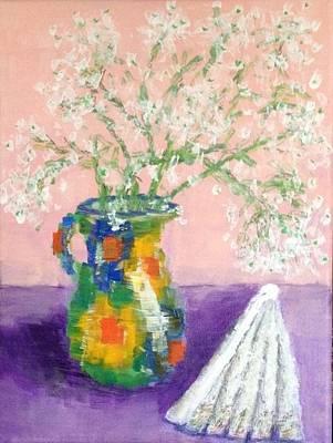 A Spanish Jar And A Fan Art Print