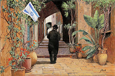 Painting Rights Managed Images - a spasso per Jaffa Royalty-Free Image by Guido Borelli