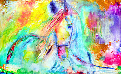 Spontaneous Mixed Media - A Special Friend by Ivan Guaderrama
