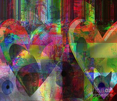 Meaningful Mixed Media - A Special Kind Of Heart by Fania Simon
