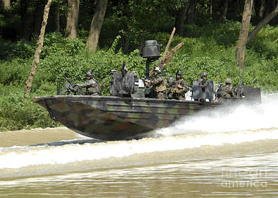 High Speed Photograph - A Special Operations Craft Riverine by Stocktrek Images