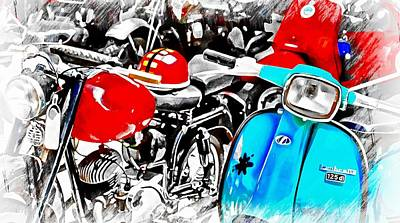 Photograph - A Splash Of Blue Lambretta by Dorothy Berry-Lound