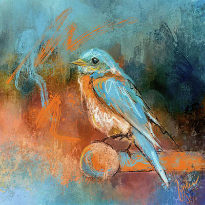 Painting - A Splash Of Bluebird by Jai Johnson