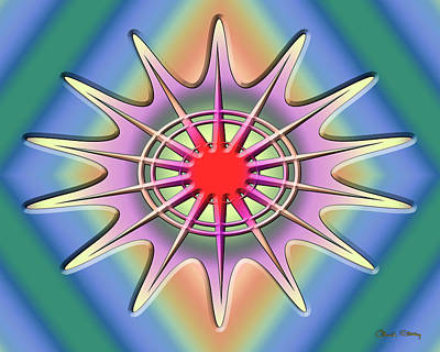 Digital Art - A Splash Of Color 2 by Chuck Staley