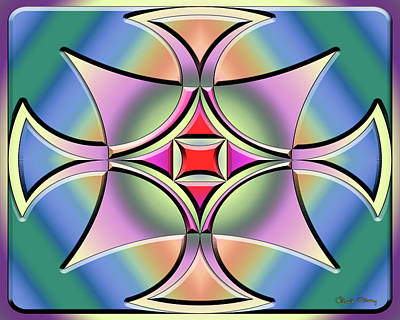 Digital Art - A Splash Of Color 4 by Chuck Staley