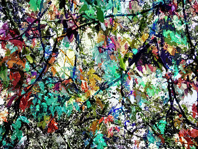 Jackson Pollock Photograph - A Splash Of Color by Don Zawadiwsky