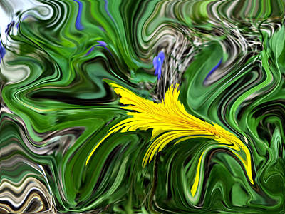 Digital Art - A Splash Of Spring by Kathy K McClellan