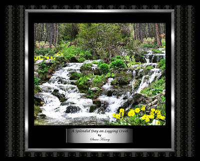 Art Print featuring the photograph A Splendid Day On Logging Creek by Susan Kinney