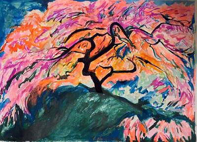 Painting - A Splendid Japanese Maple Tree by Esther Newman-Cohen