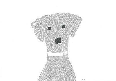 Simplicity Drawing - A Spotless Dalmatian by Nerea Gutierrez