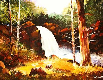 Painting - A Spout In The Forest Ll by Al Brown