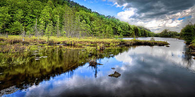 Photograph - A Spring Day At Bald Mountain Pond by David Patterson