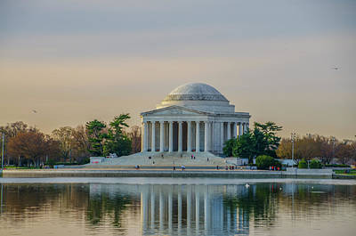 Jefferson Memorial Digital Art - A Spring Day At The Jefferson Memorial by Bill Cannon