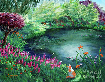 Spring Flowers Painting - A Spring Day In The Garden by Laura Iverson