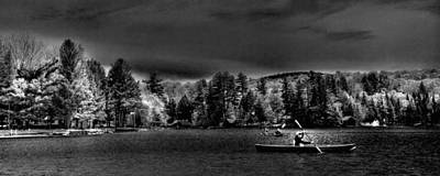 Canoes Photograph - A Spring Day On Old Forge Pond by David Patterson