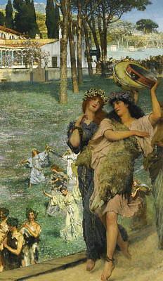 Ancient Rome Painting - A Spring Festival by Lawrence Alma-Tadema