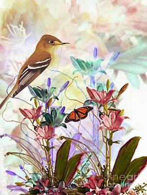 Digital Art - A Spring Fling by Maria Urso