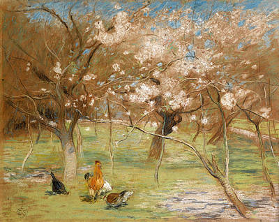 Drawing - A Spring Idyll by Edward Stott