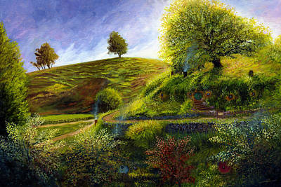 The Shire Painting - A Spring Morning At Bag End by Dale Jackson