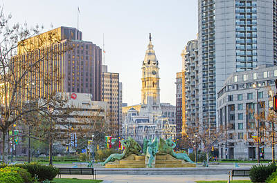 City Hall Digital Art - A Spring Morning In Philadelphia by Bill Cannon