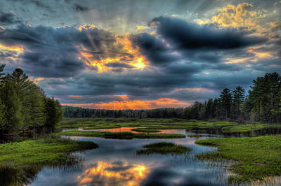 Sunset Photograph - A Spring Sunset by David Patterson