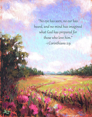Painting - A Spring To Remember With Bible Verse by Susan Jenkins