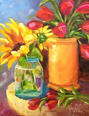 Terra Painting - A Springtime Seranade by Glenda Grubbs