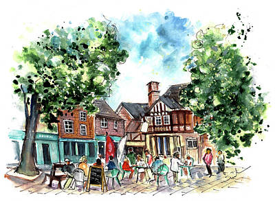 Painting - A Square In York 02 by Miki De Goodaboom