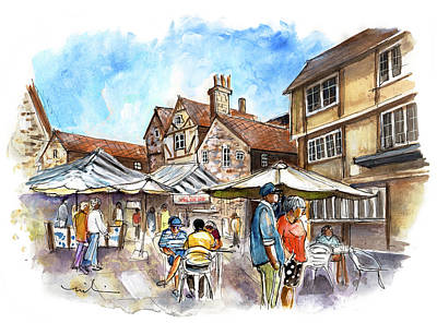 Painting - A Square In York 03 by Miki De Goodaboom